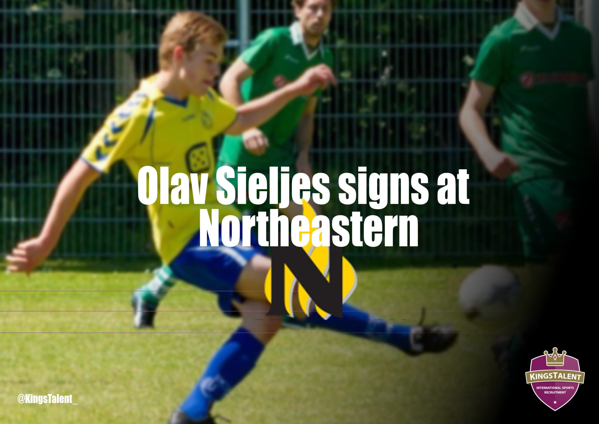 Olav Sieljes signs at Northeastern JC