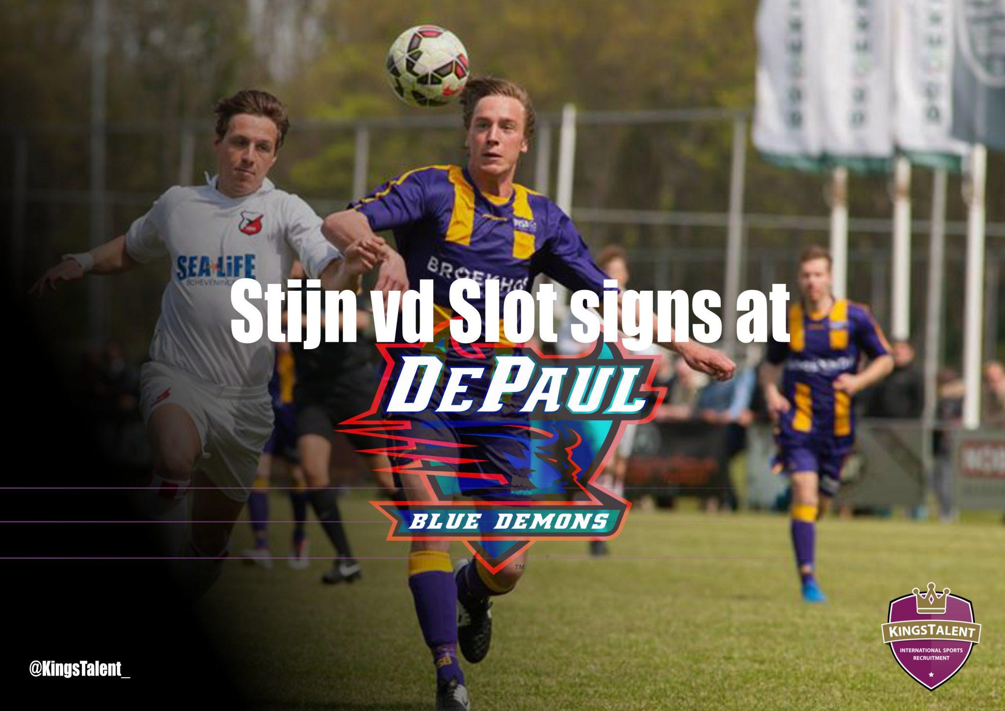 Stijn van der Slot signs at DePaul2