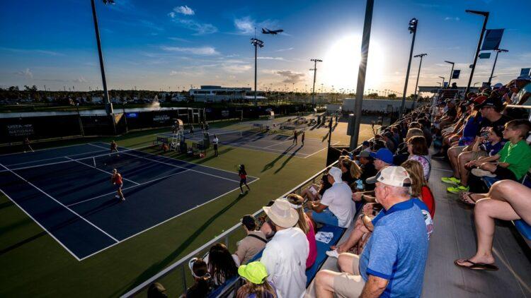 College tennis stadion